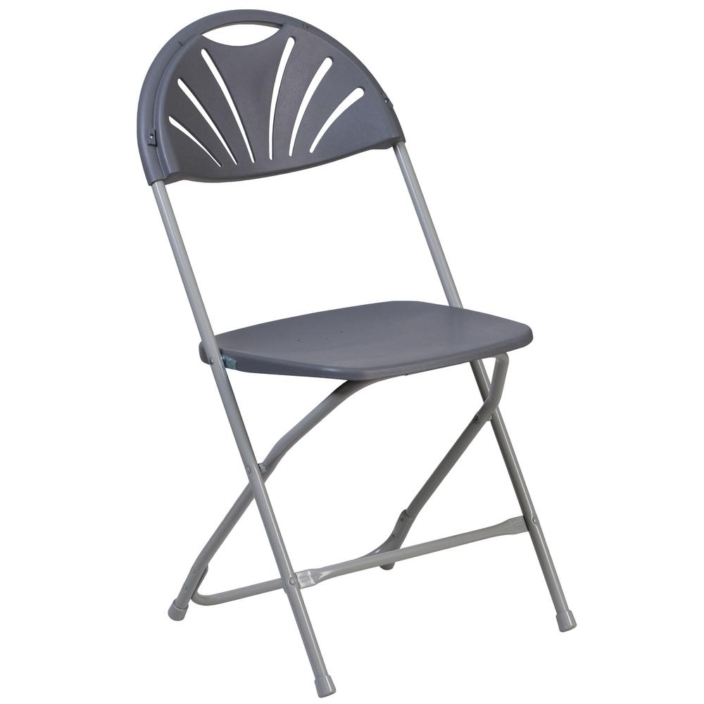 Swell Carnegy Avenue Charcoal Plastic Seat With Metal Frame Folding Chair Set Of 2 Evergreenethics Interior Chair Design Evergreenethicsorg