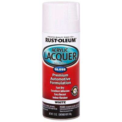 12 oz. Acrylic Lacquer Gloss White Spray Paint (6-Pack)