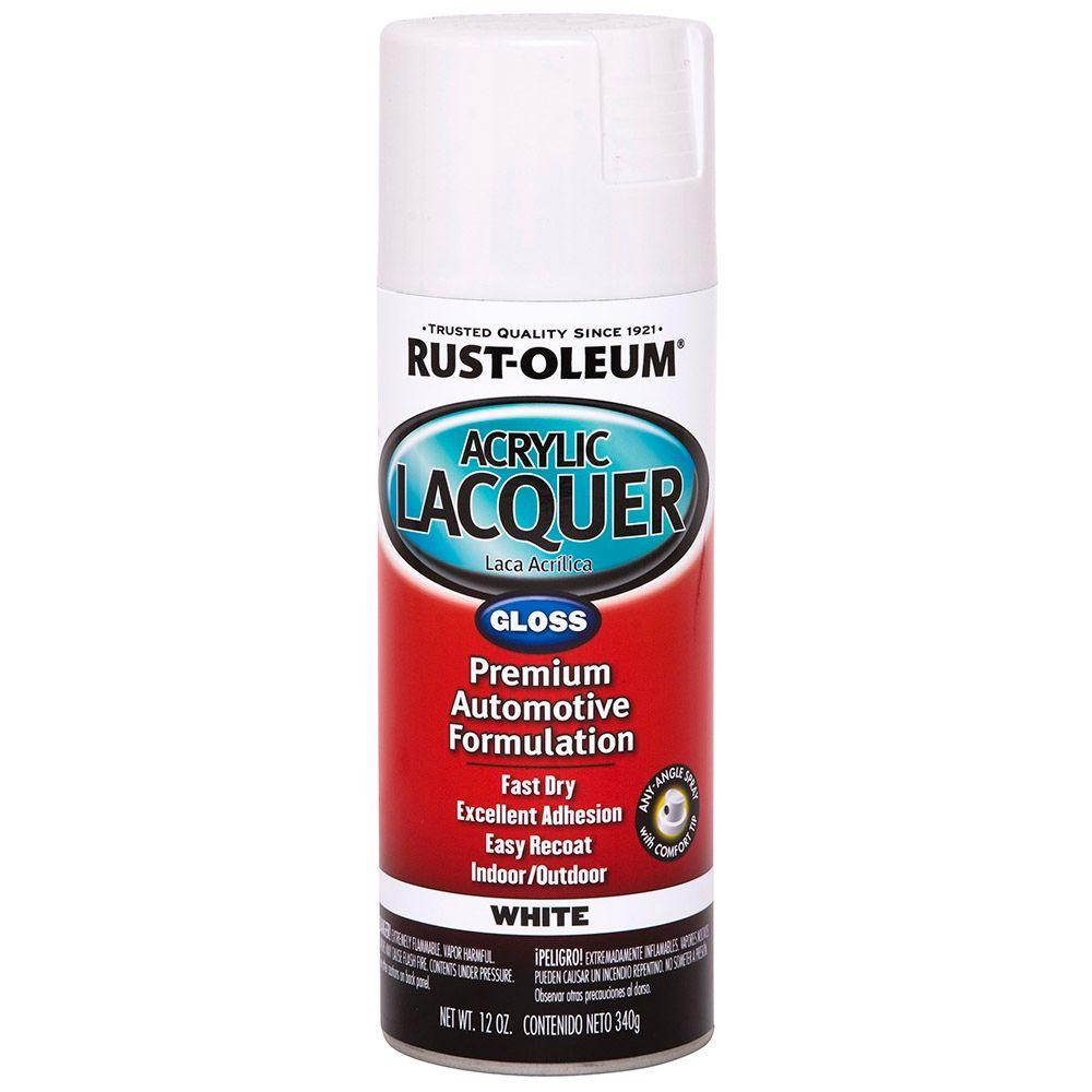 Paint For Cars >> Rust Oleum Automotive 12 Oz Acrylic Lacquer Gloss White Spray Paint