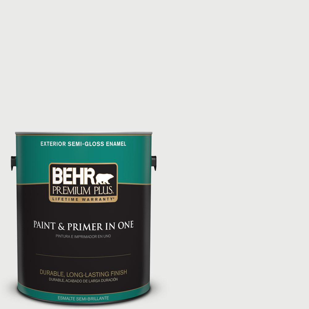 BEHR Premium Plus 1-gal. #780E-2 Full Moon Semi-Gloss Enamel Exterior Paint