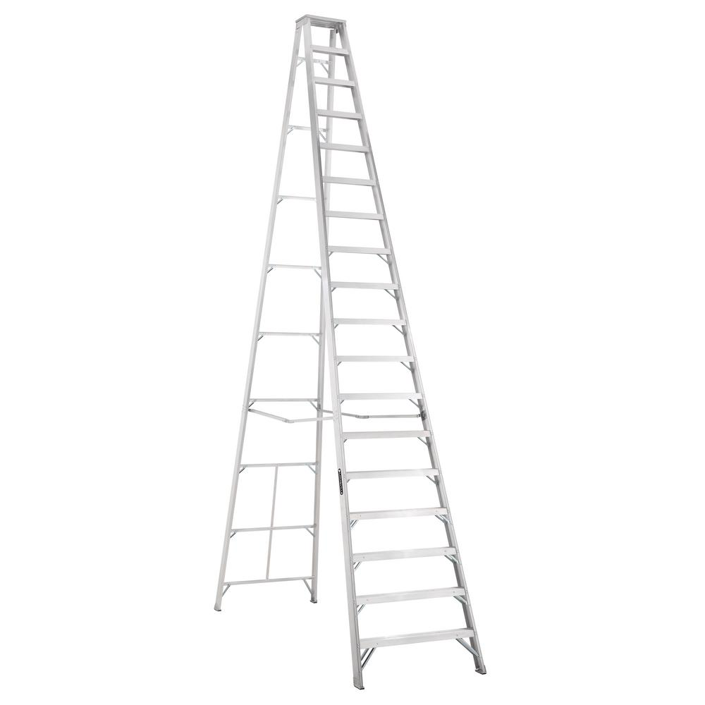 Louisville Ladder 18 Ft Aluminum Step Ladder With 300 Lbs Load Capacity Type Ia Duty Rating As1018 The Home Depot