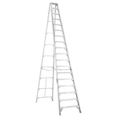 18 ft. Aluminum Step Ladder with 300 lbs. Load Capacity Type IA Duty Rating