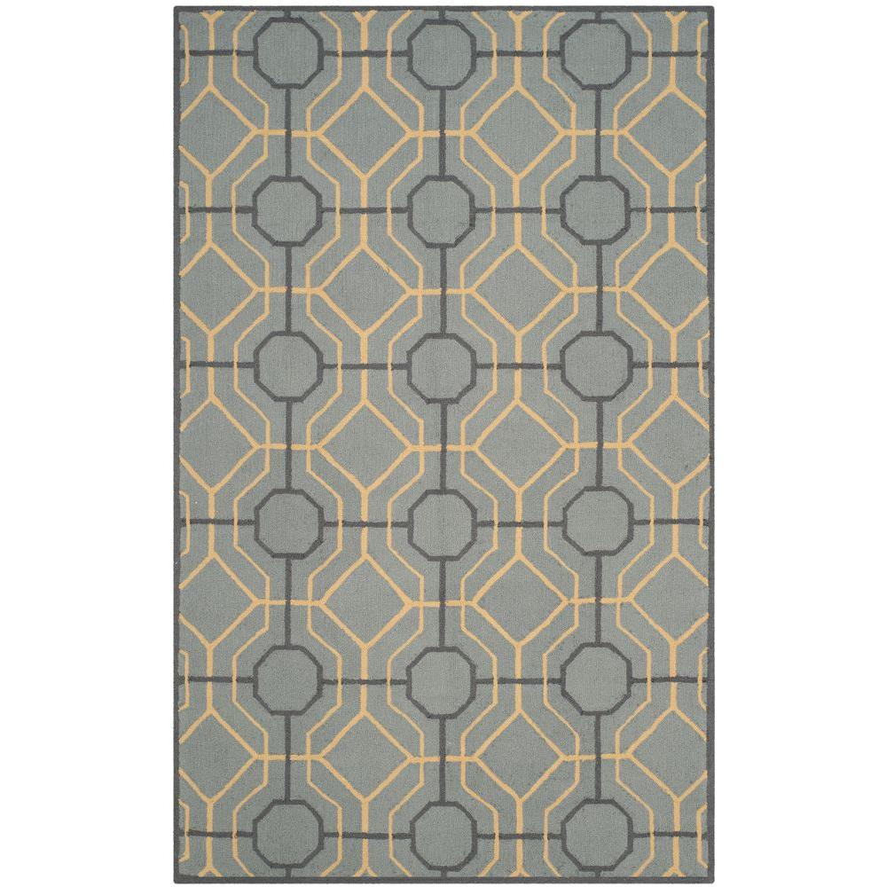 Four Seasons Gray/Gold 5 ft. x 8 ft. Area Rug