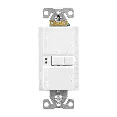 GFCI Self-Test 20A -125V Blank Face Receptacle with Standard Size Wallplate, White