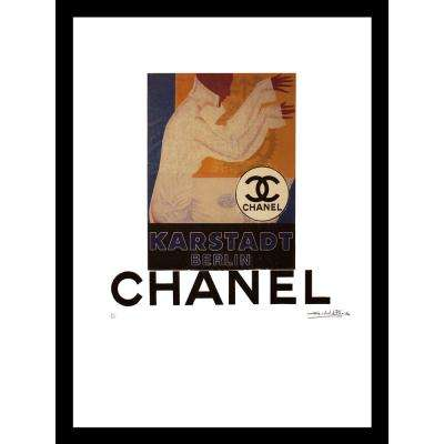 """24 in x 18 in"" ""Karstadt"" Vintage Chanel Ad by Fairchild Paris Framed Printed Wall Art"