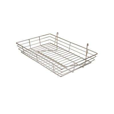 24 in. W x 15 in. D x 4-1/2 in. H Chrome Wire Basket