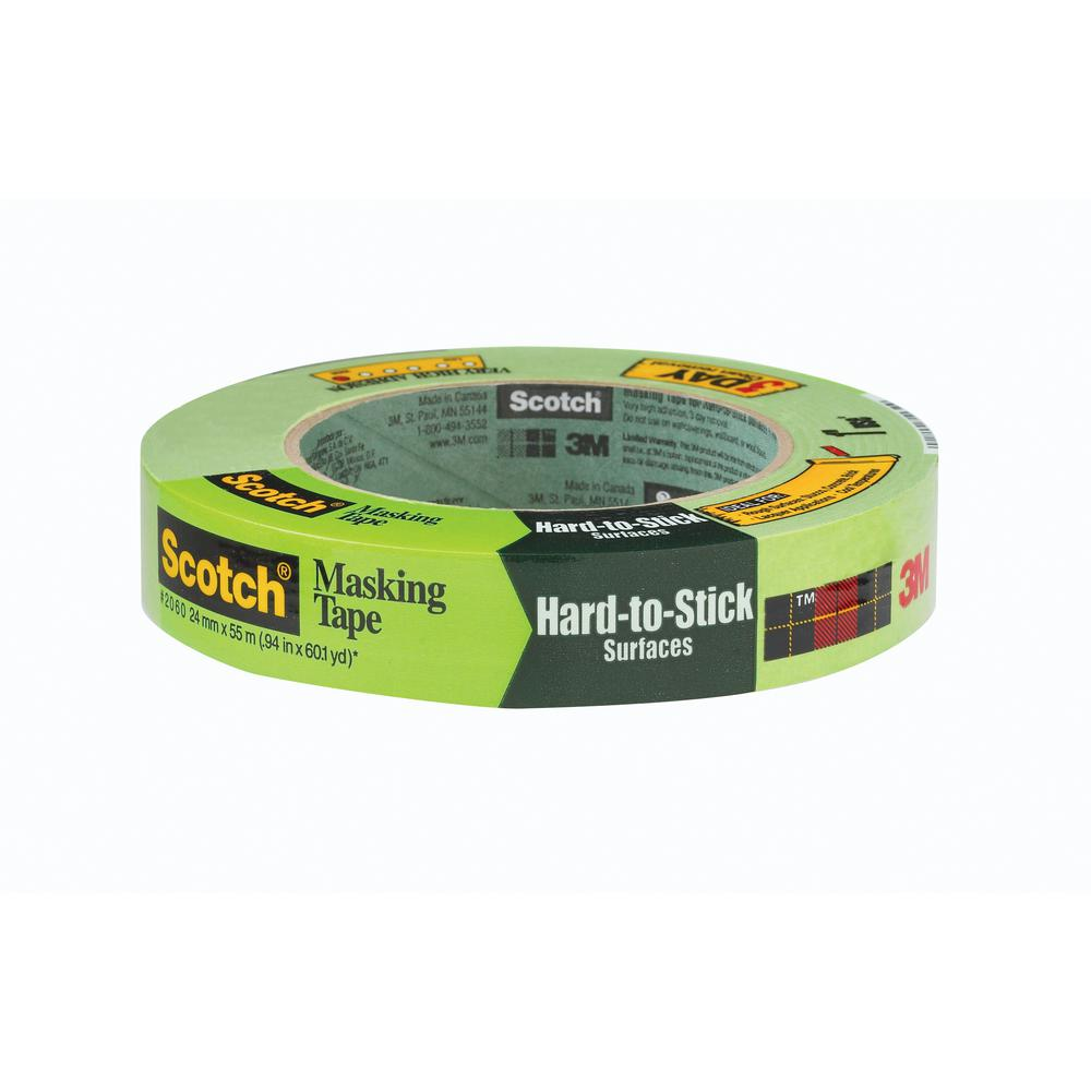 Scotch 0.94 in. x 60.1 yds. Masking Tape for Hard-to-Stick Surfaces