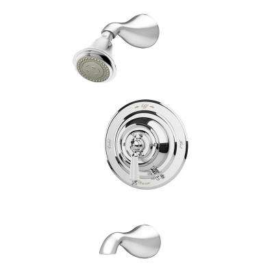 Carrington 1-Handle 3-Spray Tub and Shower Faucet in Chrome (Valve Included)