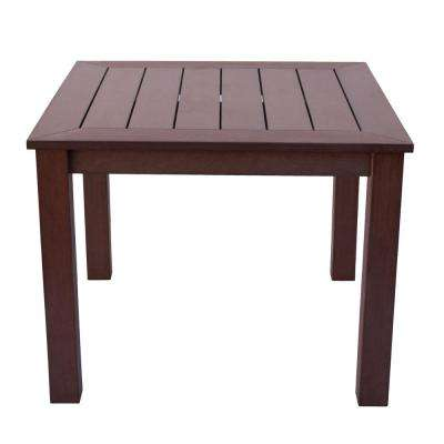 Sunrise Chateau Brown Plastic Outdoor Dining Table