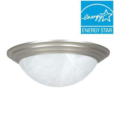 3-Light Satin Nickel Flush Mount