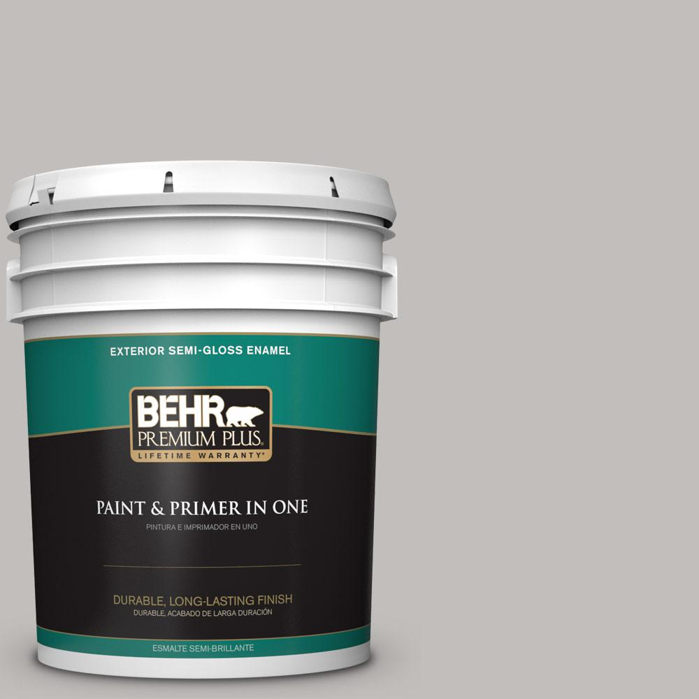 5 gal. #HDC-WR15-3 Noble Gray Semi-Gloss Enamel Exterior Paint