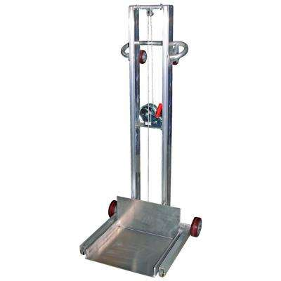 400 lb. Capacity Aluminum Low Profile Light Load Lift with Poly on Poly Casters