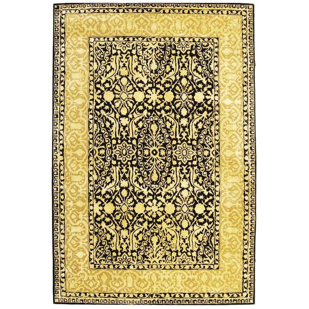 Silk Road Black and Ivory 5 ft. x 8 ft. Area