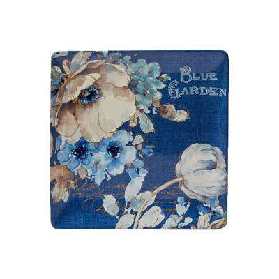 Indigold Blue Ceramic 12.5 in. Square Platter