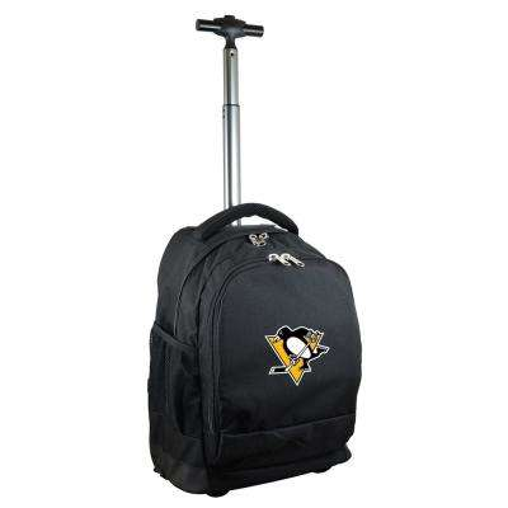 NHL Pittsburgh Penguins 19 in. Black Wheeled Premium Backpack