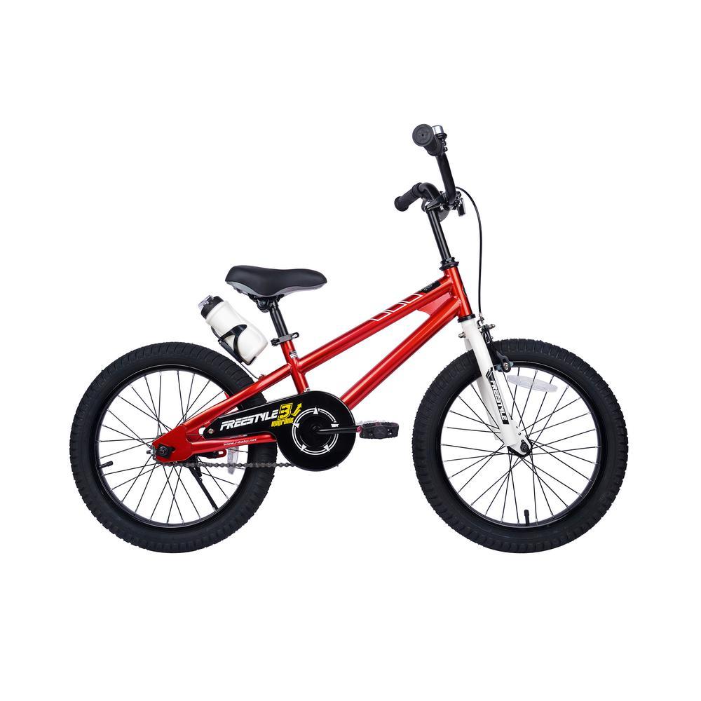 18 in. Wheels Freestyle BMX Kid's Bike, Boy's Bikes and Girl's Bikes in Red