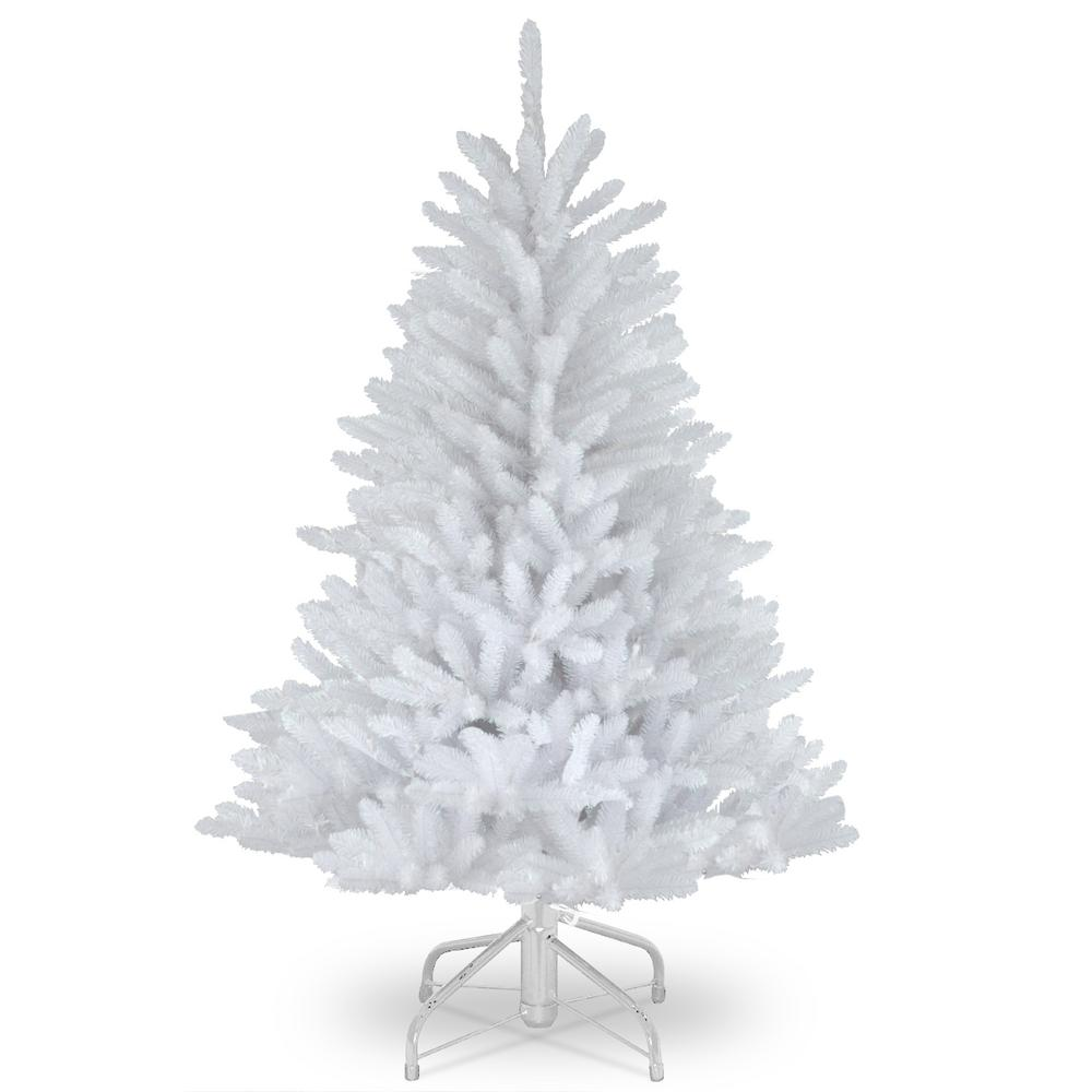 4 Ft White Christmas Trees Artificial: National Tree Company 4.5 Ft. Dunhill White Fir Artificial