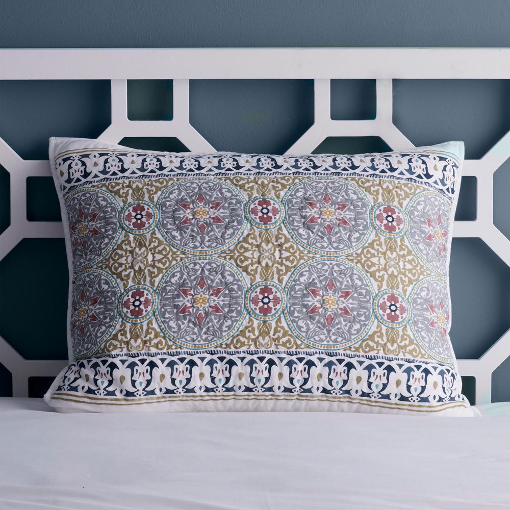 Middlesex Multicolored Geometric Cotton Textured Standard Sham