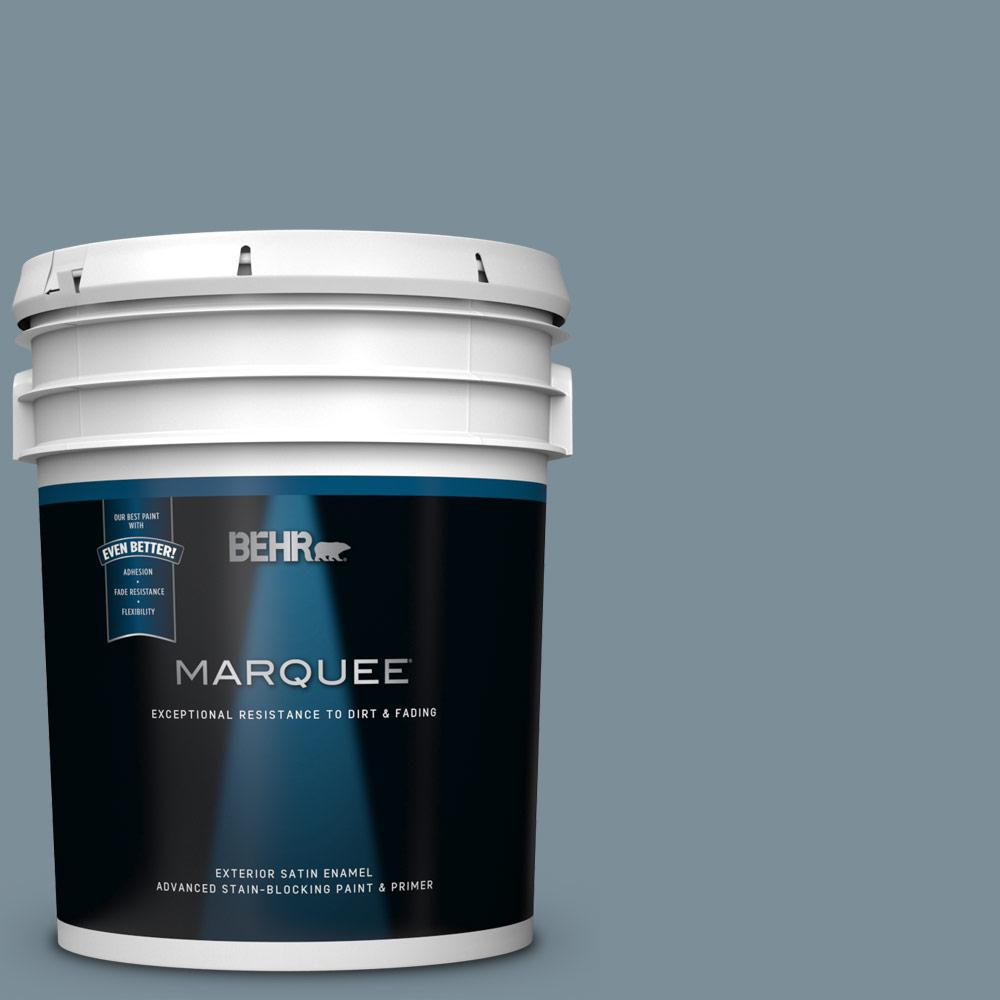 BEHR MARQUEE 5 gal. #MQ5-20 Cold Steel Satin Enamel Exterior Paint and Primer in One
