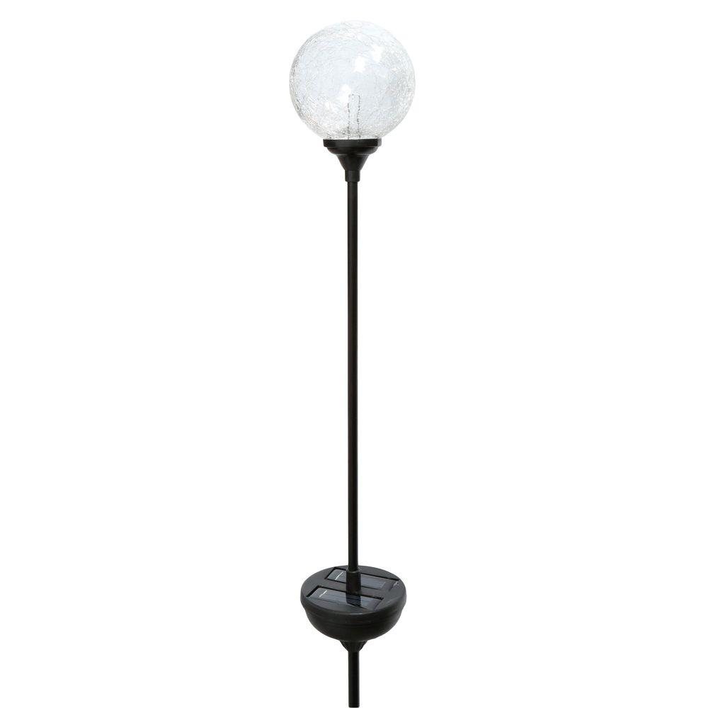 glass globe pathway stake light 35 in solar led multi color garden yard walkway 692622701276 ebay. Black Bedroom Furniture Sets. Home Design Ideas