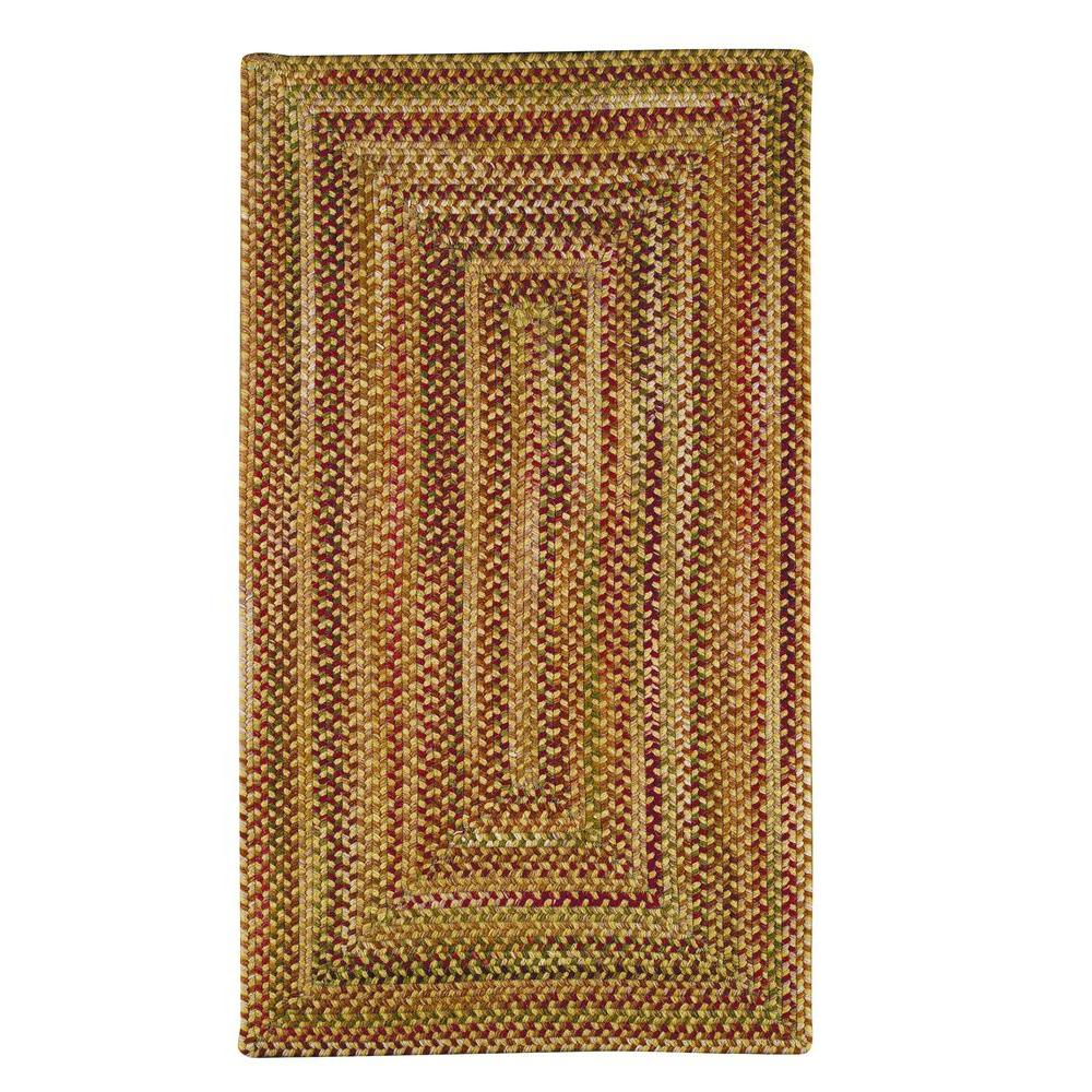 Capel Applause Concentric Wheatfield 5 ft. x 8 ft. Area Rug