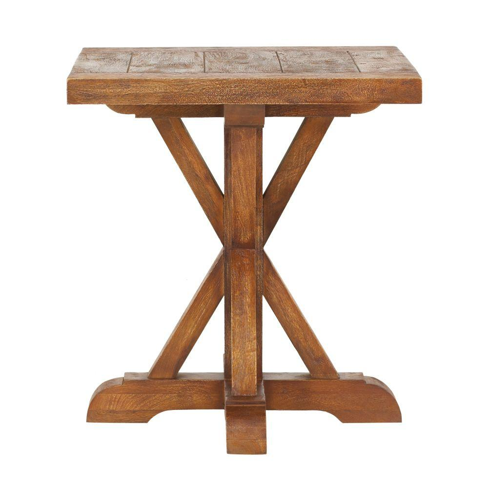 Home Decorators Collection Cane Bark End Table 9415300860
