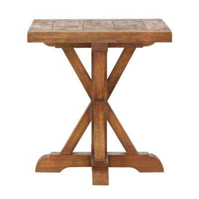 Cane Bark End Table
