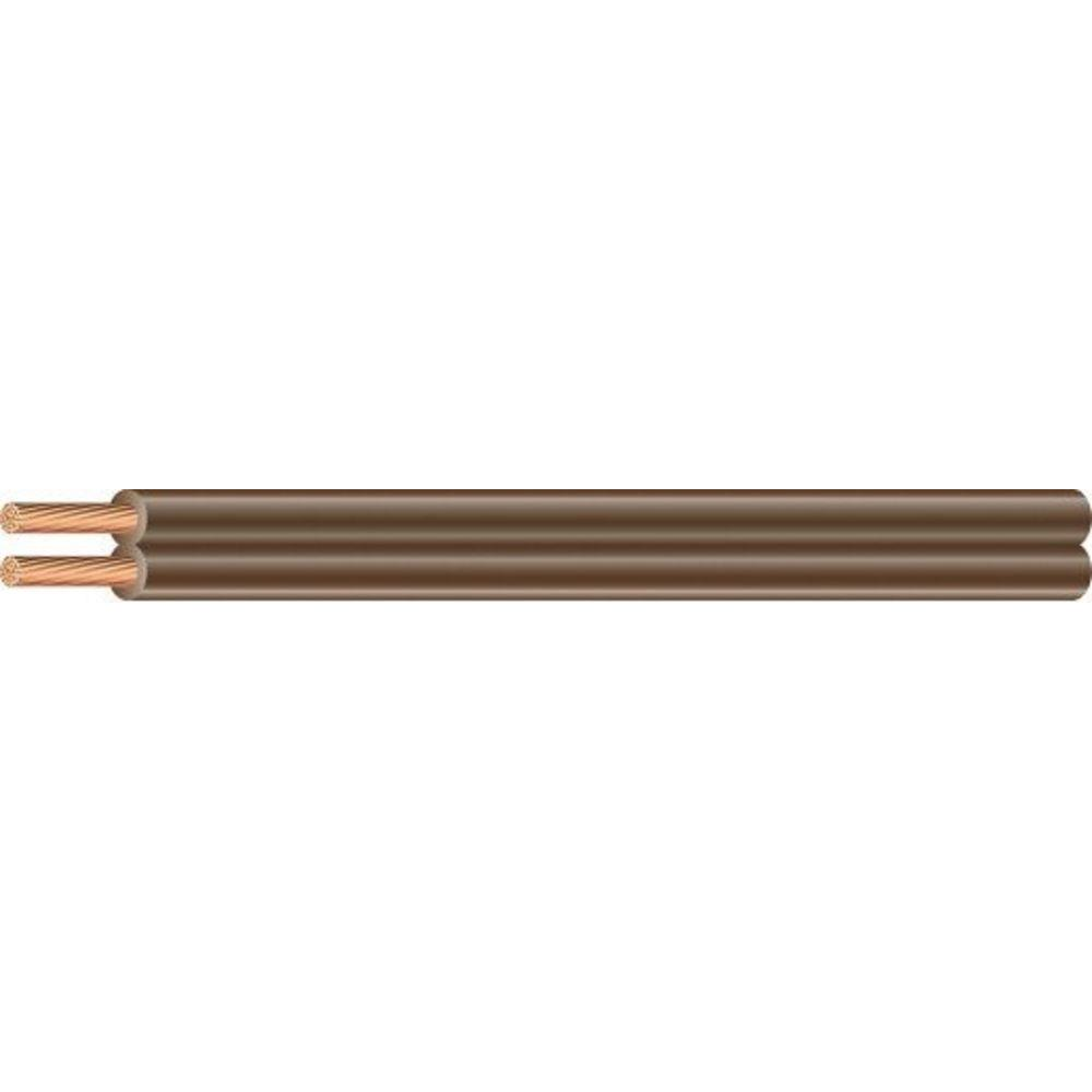 Southwire (By-the-Foot) 16/2 Brown Stranded CU SPT-2 Lamp Wire