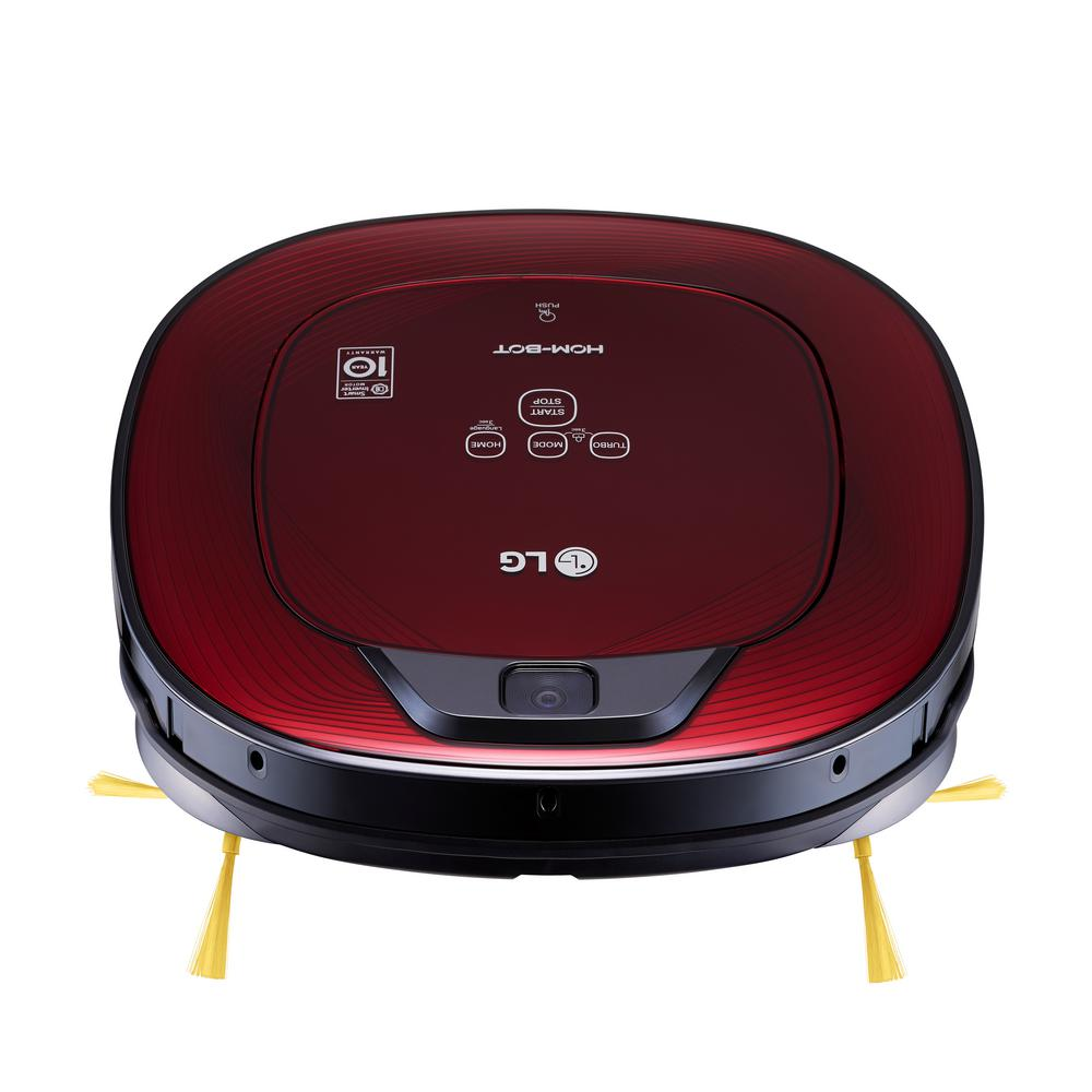 LG Electronics Hom-Bot Smart Robotic Vacuum Cleaner with WiFi Enabled in Ruby Red LG Electronics Hom-Bot Smart Robotic Vacuum Cleaner with WiFi Enabled in Ruby Red