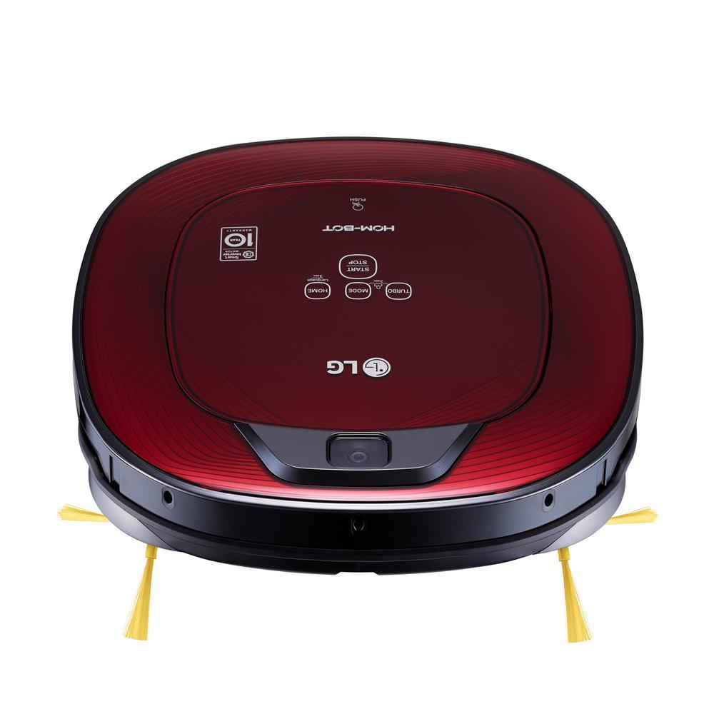Hom-Bot Robotic Vacuum Cleaner in Ruby Red