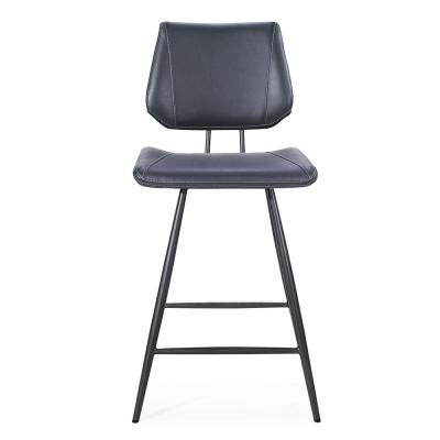 Vinson Cobalt Synthetic Leather Counter Stool with Return Swivel