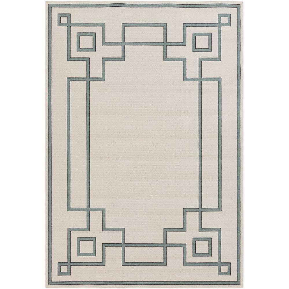 Blanche Beige 5 ft. x 8 ft. Indoor/Outdoor Area Rug