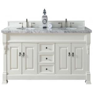 James Martin Signature Vanities Brookfield 72 inch W Double Vanity in Cottage White with Marble Vanity Top in Carrara... by James Martin Signature Vanities