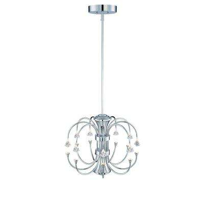 Mini integrated led chandeliers lighting the home depot galaxy chrome interior integrated led chandelier aloadofball Image collections