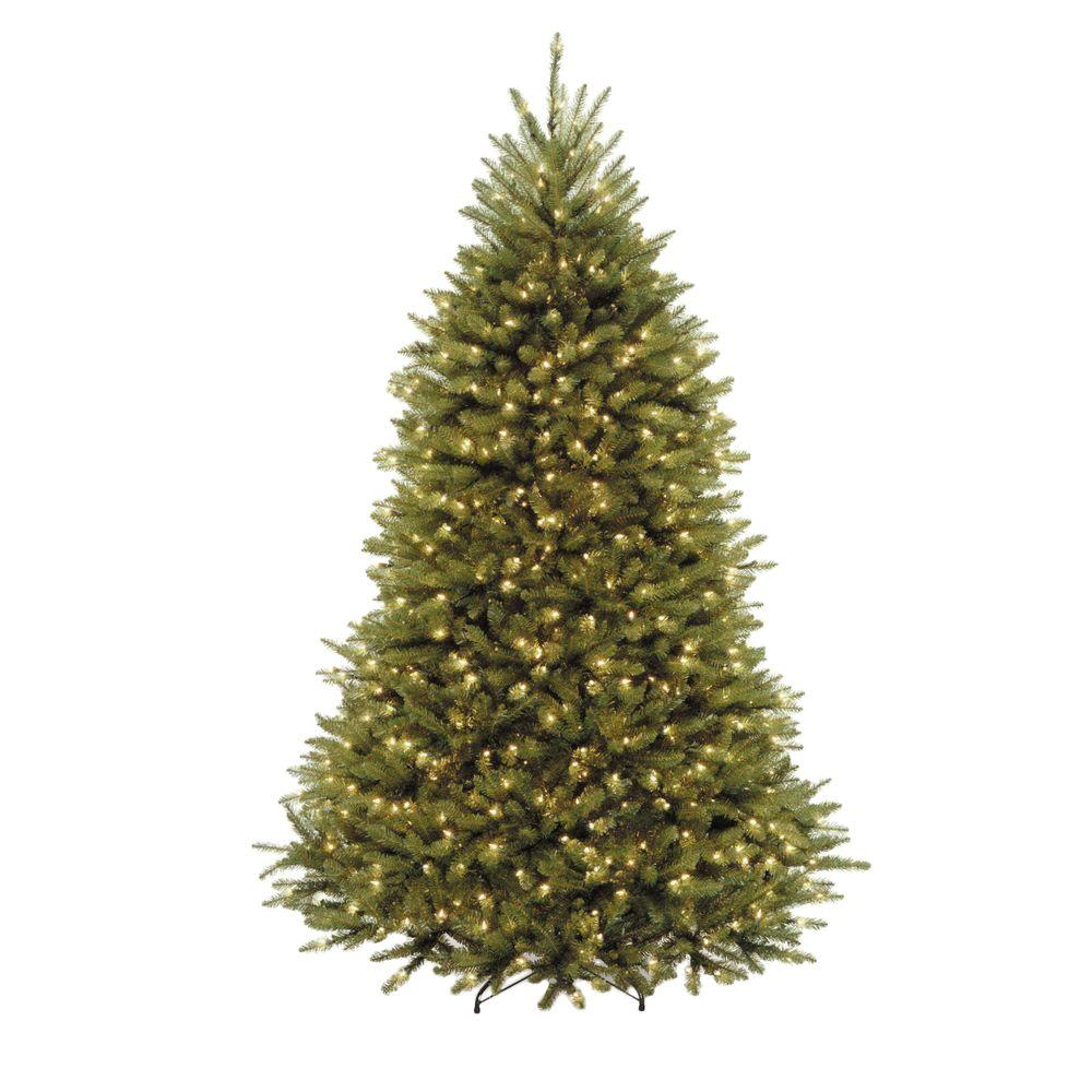 National tree company 7 5 ft dunhill fir artificial for Lit national