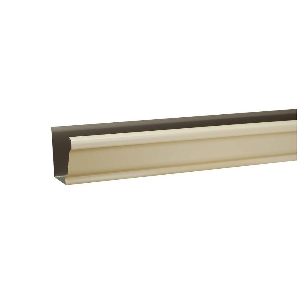 6 in. x 10 ft. K-Style Almond Aluminum Gutter