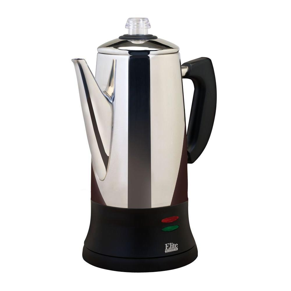 Elite 40-Cup Thermal Coffee Urn in Stainless Steel with Permanent Filter
