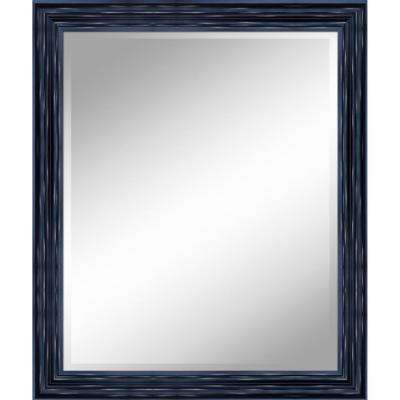 31 in. x 37 in. Antique Black Mirror in 1 in. Bevel with 3.5 in. Frame