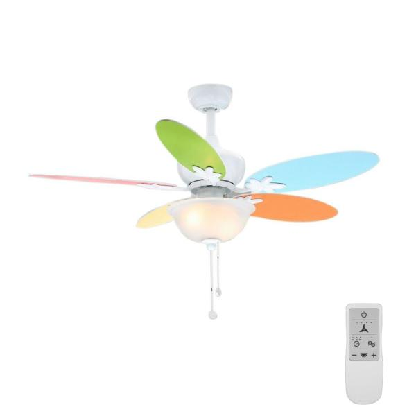 Harper II 44 in. LED White Ceiling Fan with Light Kit and WiFi Remote Control works with Google Assistant and Alexa
