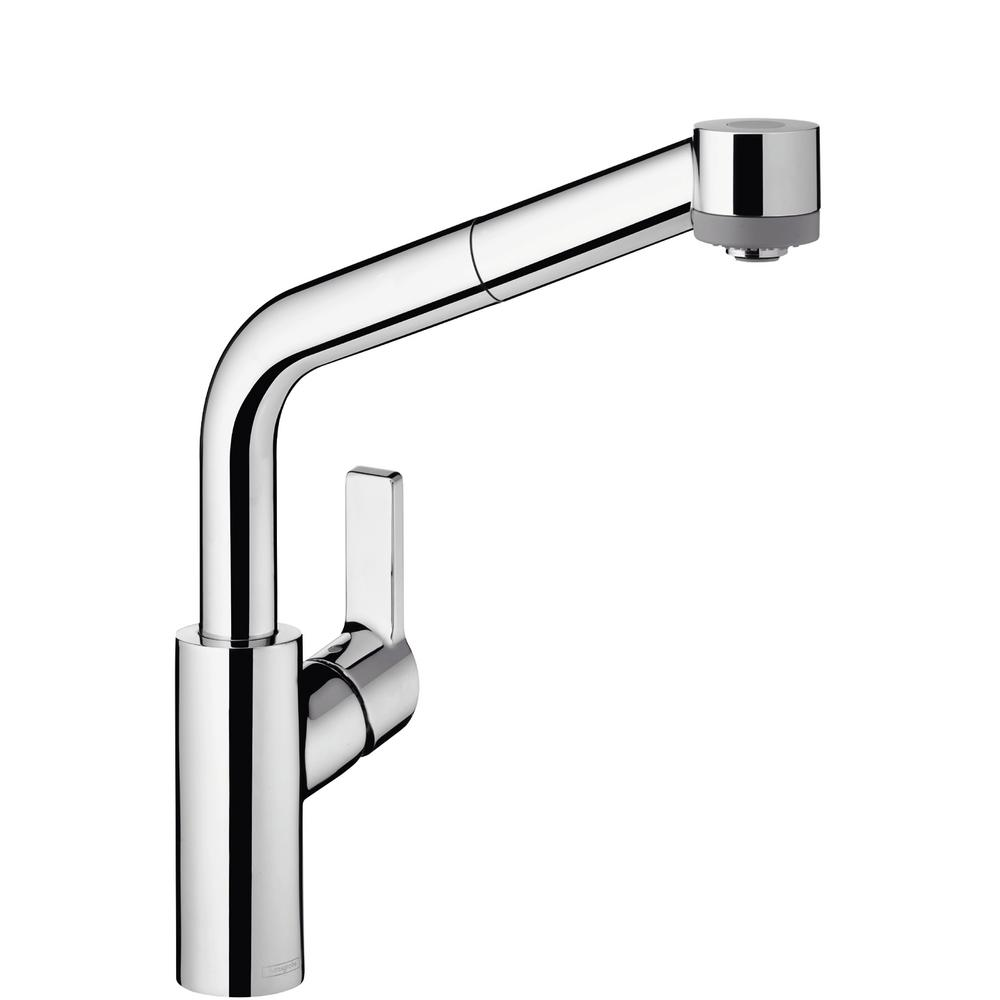 Hansgrohe Status Semi-Arc Single-Handle Pull-Out Sprayer Kitchen Faucet in  Chrome
