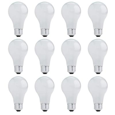 72-Watt A19 Dimmable Soft White Light Halogen Light Bulb (12-Pack)