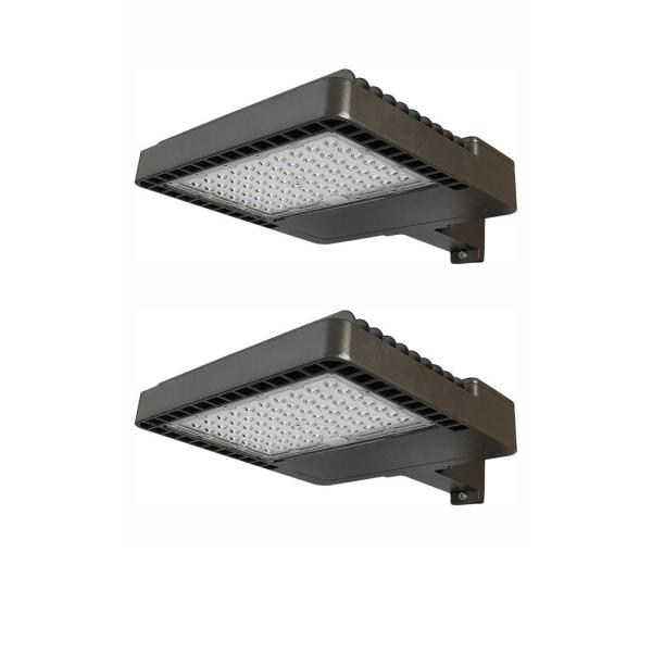 800-Watt Equivalent Integrated Outdoor LED Area Light, 12000 Lumens, Dusk to Dawn Outdoor Security Light (2-Pack)