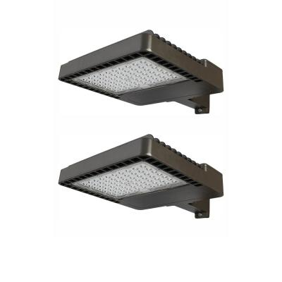100-Watt Integrated Commercial LED Area Light and Flood Light with 12000 Lumens, Dusk to Dawn Outdoor Light (2-Pack)