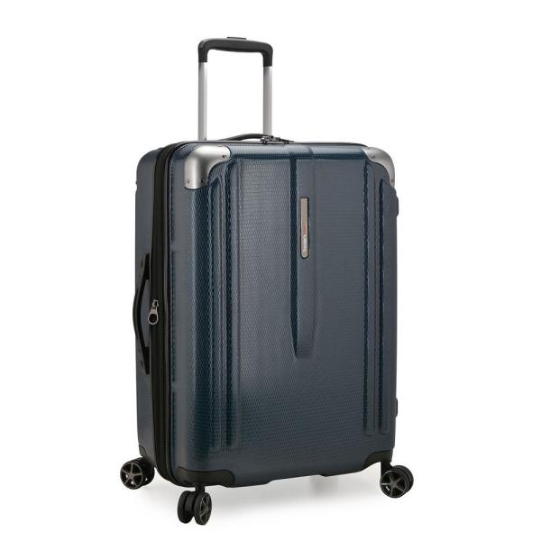 New London II 26 in. Navy Hardside Expandable Spinner Luggage