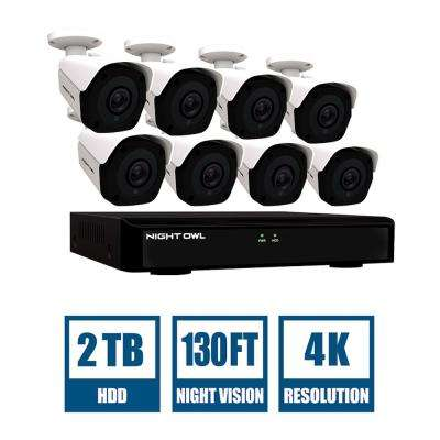IC8 Series 8-Channel 4K 2TB NVR Security Surveillance System with 8-Wired IP Cameras