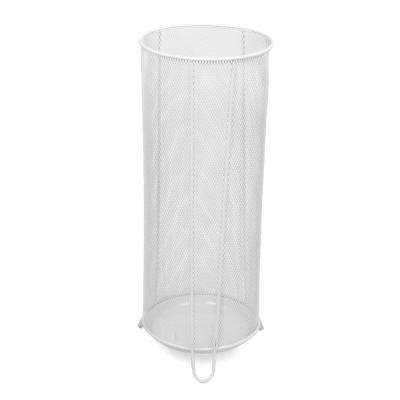 White Metal Mesh Umbrella Holder