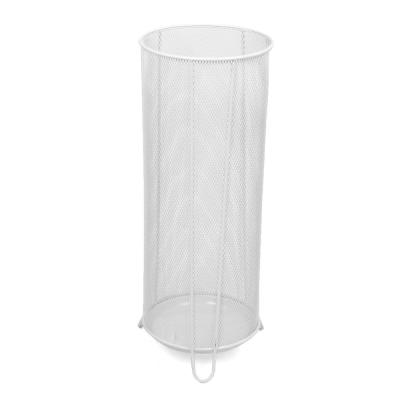 White Metal Mesh Umbrella Stand