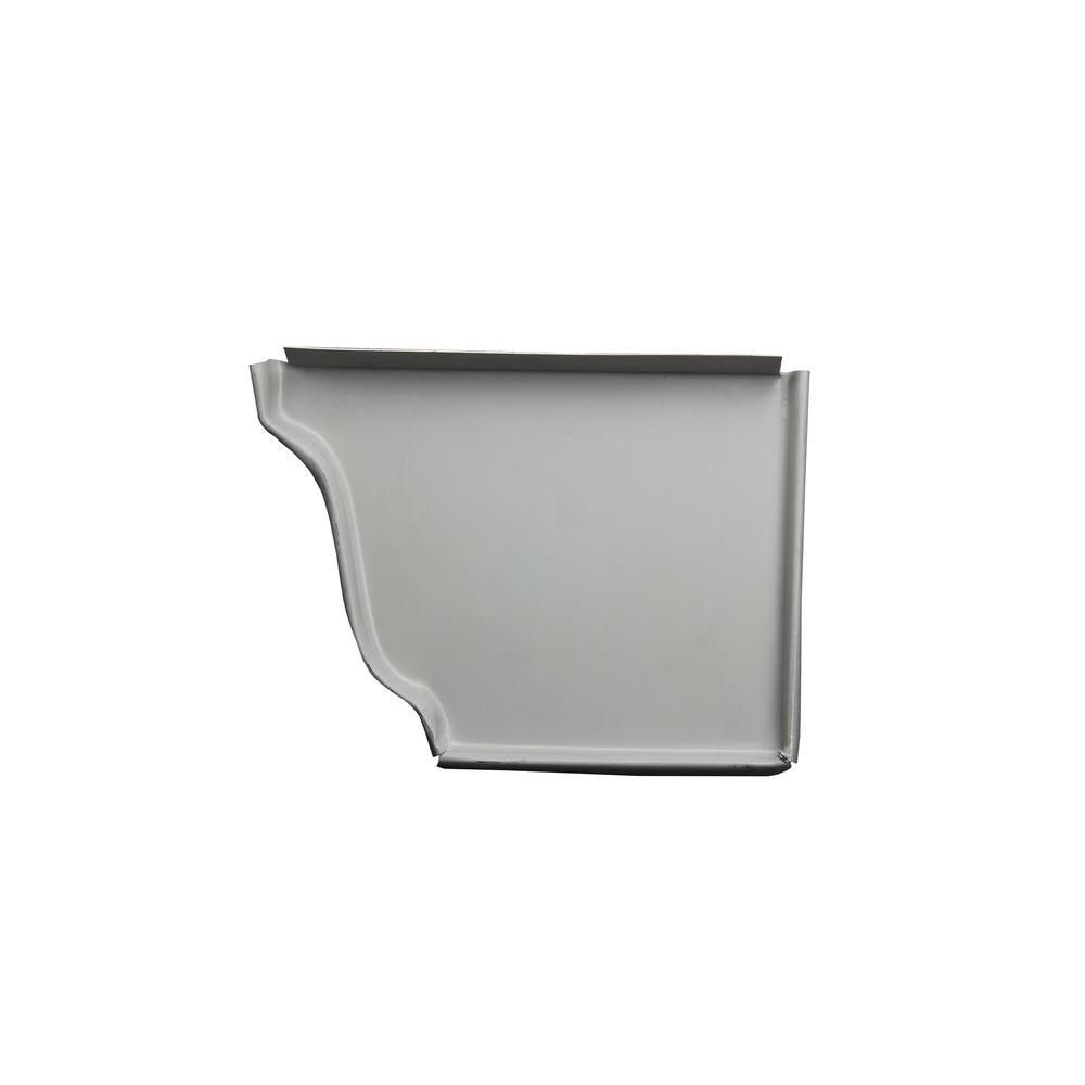 6 in. Colonial Gray Aluminum Right End Cap