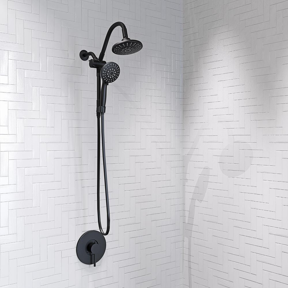 Hand Shower Set Chrome Matt Shower Head Bracket Shower Fittings