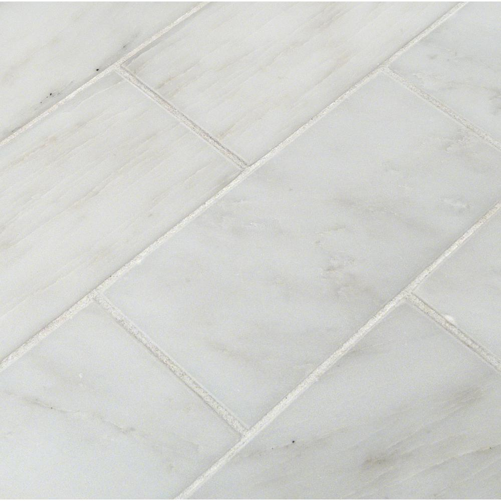- MSI Greecian White 3 In. X 6 In. Polished Marble Floor And Wall